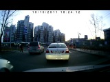 ДТП. Toyota Camry решил, что регистратор его подрезал и решил проучить...
